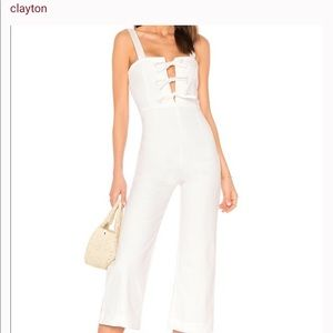 White Denim Clayton Jumpsuit